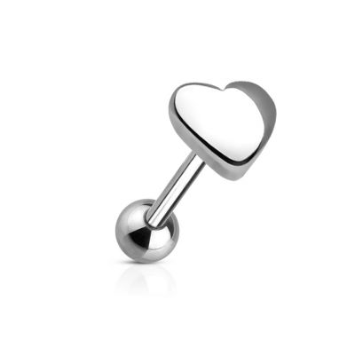 Tongue ring with heart