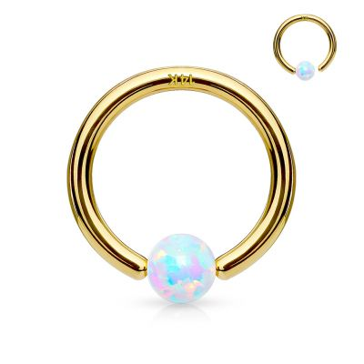 Ring in 14k gold with fix opal stone