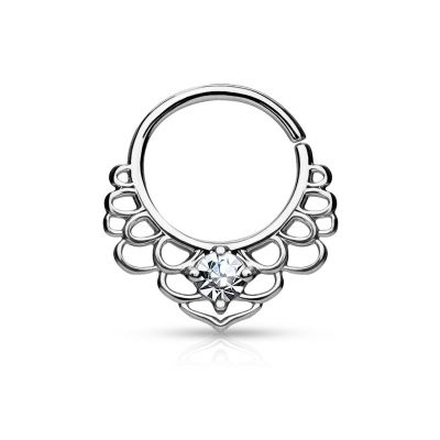 Septum ring with lotus leaves