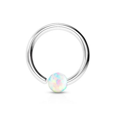 Ring with closure opal stone