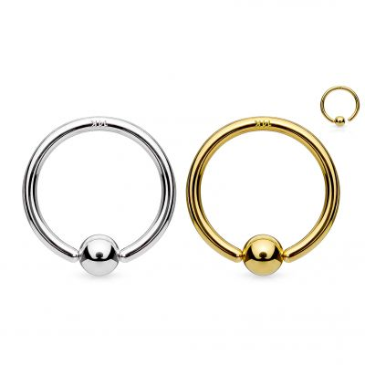 Ring in 14k gold with fix ball