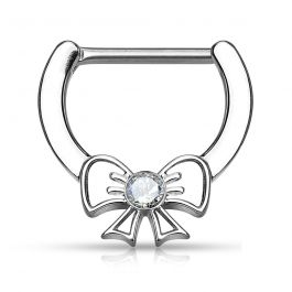 Nipple clicker with bow