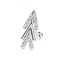 Ear piercing with abstract studded arrow